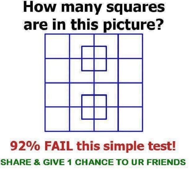 quanti quadrati trovi