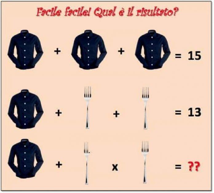 indovinello camicia forchetta soluzione